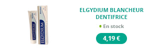 Dentifrice Elgydium blancheur